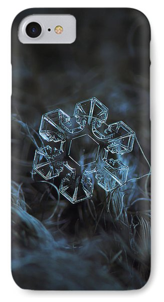IPhone Case featuring the photograph Snowflake Photo - The Core by Alexey Kljatov