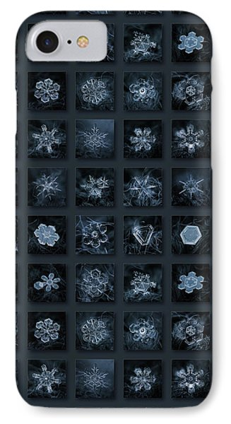 Snowflake Collage - Season 2013 Dark Crystals IPhone Case by Alexey Kljatov