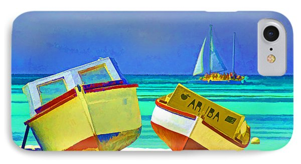 Aruba Boats Phone Case by Dennis Cox