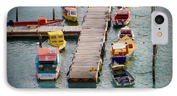 Colorful Fishing Boats IPhone Case by Jean Marie Maggi