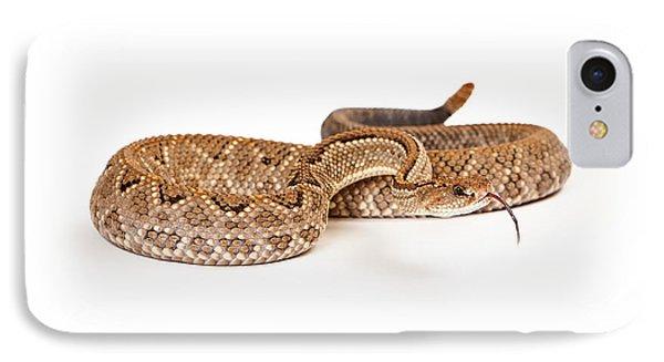 Aruba Rattlesnake Coiled Tongue Out IPhone Case by Susan Schmitz
