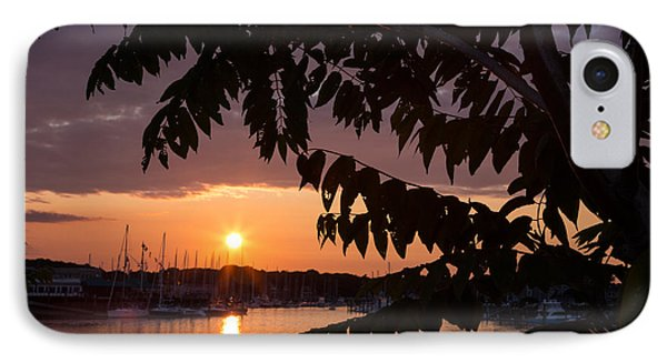 As It Sets Over The Harbor IPhone Case