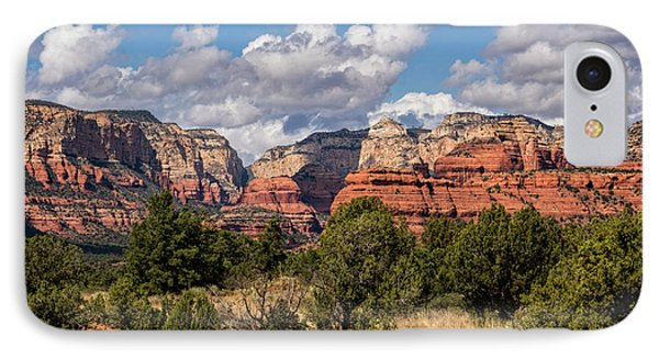 IPhone Case featuring the photograph As The Clouds Pass On By In Sedona  by Saija Lehtonen