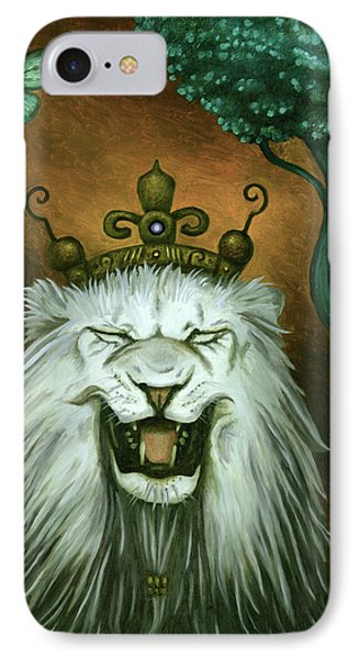 As The Lion Laughs IPhone Case by Leah Saulnier The Painting Maniac