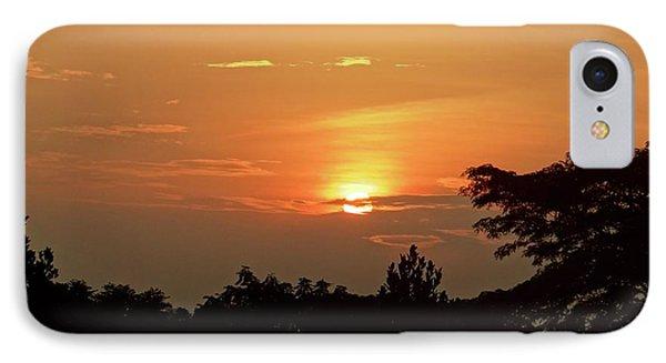 As The Sun Sets ... Orange IPhone Case by Exploramum Exploramum