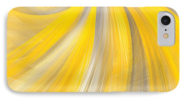As The Sun Shines - Yellow And Gray Art IPhone Case by Lourry Legarde