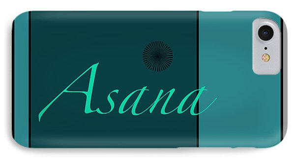 Asana In Blue IPhone Case by Kandy Hurley