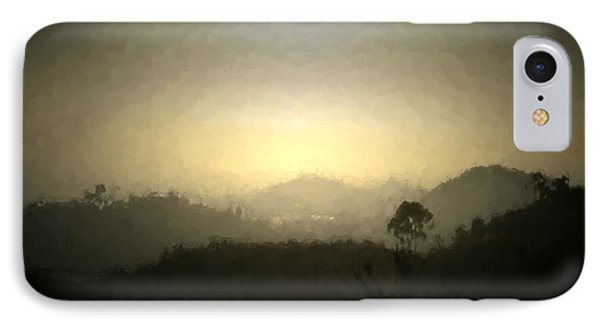 Ascend The Hill Of The Lord - Digital Paint Effect IPhone Case by Sharon Soberon