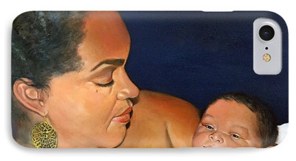 IPhone Case featuring the painting Ashli And Middleton by Marlene Book