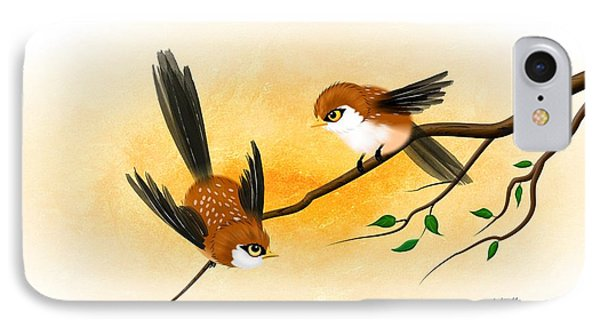 Asian Art Two Little Sparrows IPhone Case