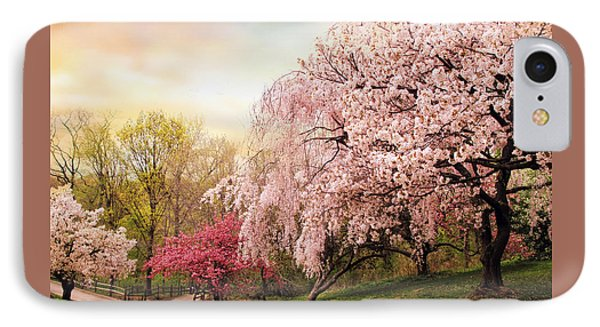 Asian Cherry Grove Phone Case by Jessica Jenney