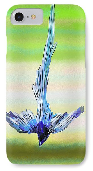 IPhone Case featuring the digital art Asian Paradise Flycatcher by Iowan Stone-Flowers