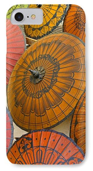 Asian Umbrellas Phone Case by Michele Burgess