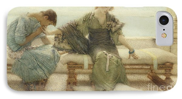 Ask Me No More....for At A Touch I Yield IPhone Case by Sir Lawrence Alma-Tadema