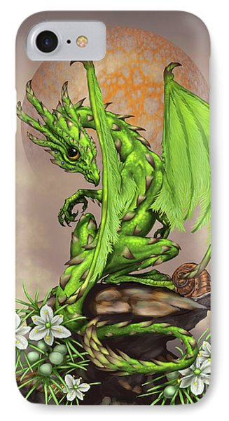 IPhone Case featuring the digital art Asparagus Dragon by Stanley Morrison
