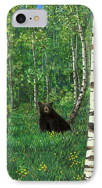 Aspen Bear Nursery IPhone Case by Stanza Widen
