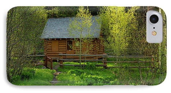 IPhone Case featuring the photograph Aspen Cabin by Leland D Howard