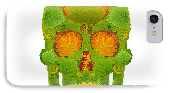 Aspen Leaf Skull 10 Phone Case by Agustin Goba
