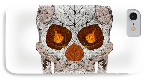 Aspen Leaf Skull 11 Phone Case by Agustin Goba