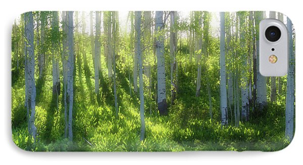 Aspen Morning 3 IPhone Case by Marie Leslie
