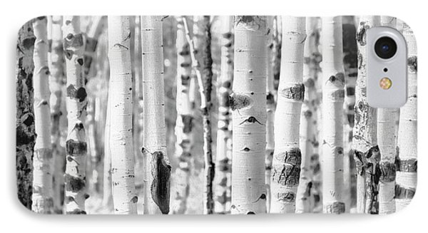 IPhone Case featuring the photograph Aspens In Black And White  by Saija Lehtonen