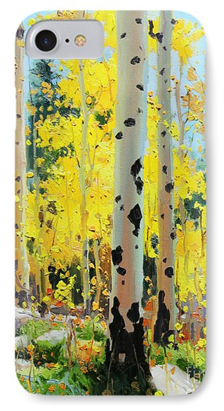 Aspens In Golden Light IPhone Case by Gary Kim