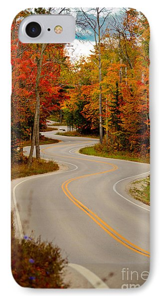 Asphalt Creek In Door County IPhone Case by Mark David Zahn