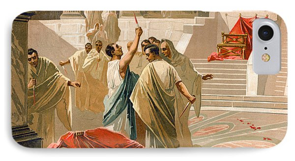 Assassination Of Julius Caesar IPhone Case by Spanish School