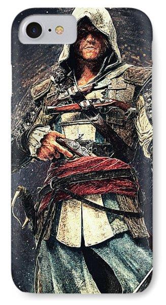 Assassin's Creed - Edward Kenway IPhone Case by Taylan Apukovska