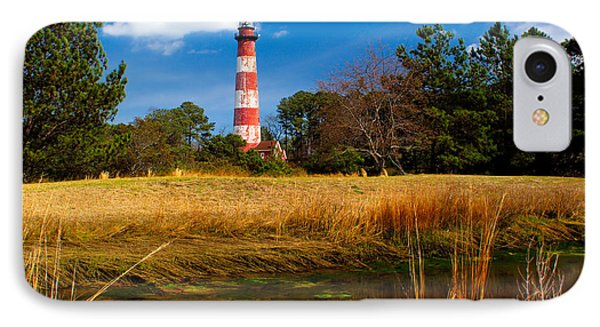Assateague Lighthouse Reflection IPhone Case by Nick Zelinsky