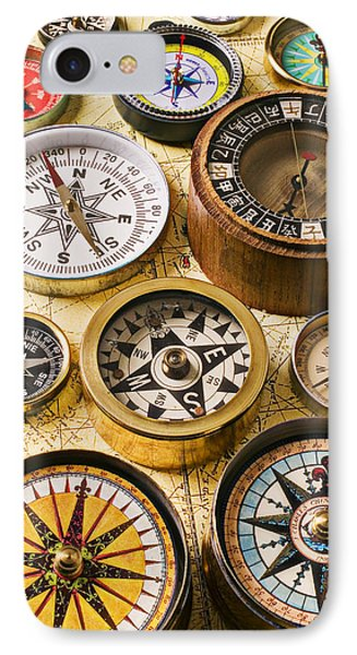 Assorted Compasses Phone Case by Garry Gay