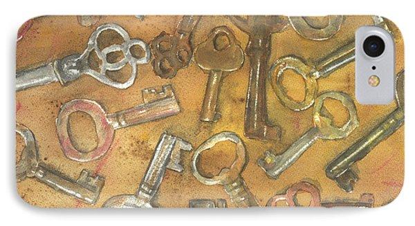 Assorted Skeleton Keys IPhone Case