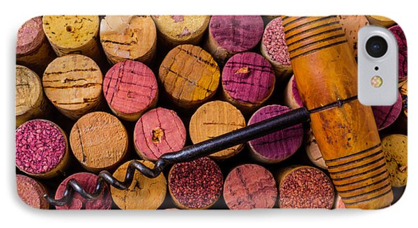 Assorted Wine Corks And Corkscrew IPhone Case by Garry Gay