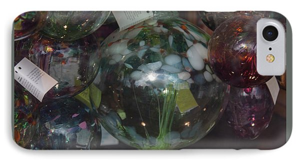 IPhone Case featuring the photograph Assorted Witching Balls by Suzanne Gaff