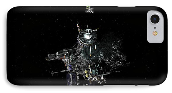 Asteroid Mining Outpost IPhone Case by Walter Myers