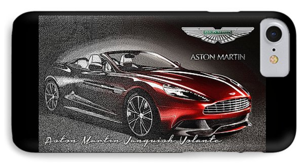 Aston Martin Vanquish Volante  IPhone Case by Serge Averbukh