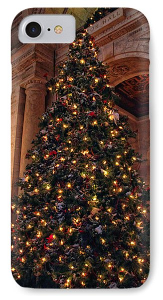 IPhone 7 Case featuring the photograph Astor Hall Christmas by Jessica Jenney
