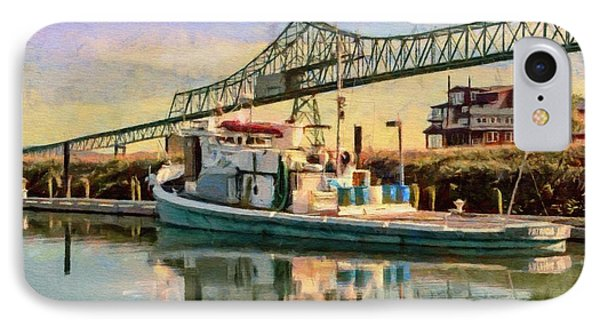 IPhone Case featuring the painting Astoria Waterfront, Scene 1 by Jeff Kolker