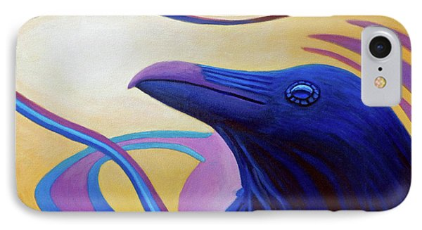 Astral Raven IPhone Case by Brian  Commerford