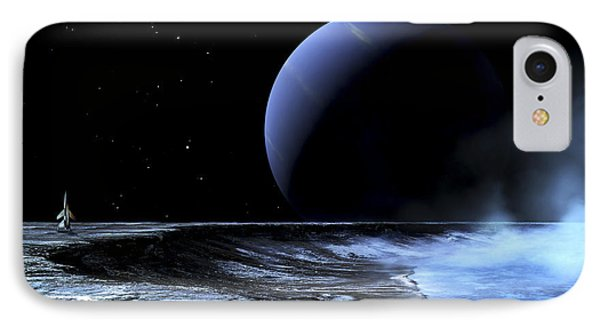 Astronaut Standing On The Edge Phone Case by Frank Hettick