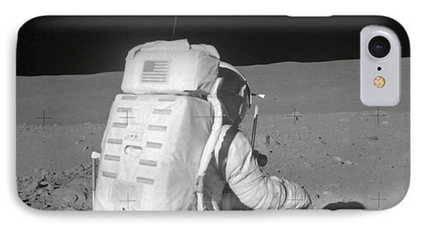 Astronaut Walking On The Moon Phone Case by Stocktrek Images