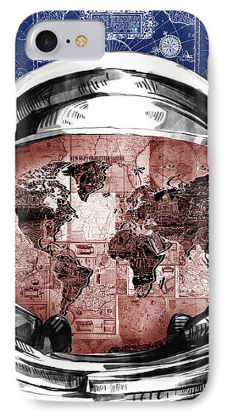 Astronaut World Map 3 IPhone Case