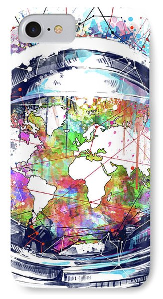 Astronaut World Map 6 IPhone Case