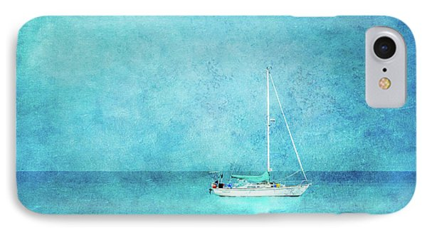 IPhone Case featuring the mixed media At Anchor by Betty LaRue