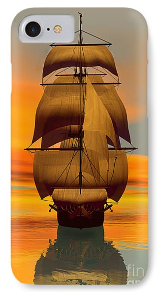 At Full Sail IPhone Case by Sandra Bauser Digital Art