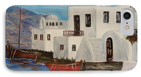 IPhone Case featuring the painting At Home In Greece by Marilyn  McNish