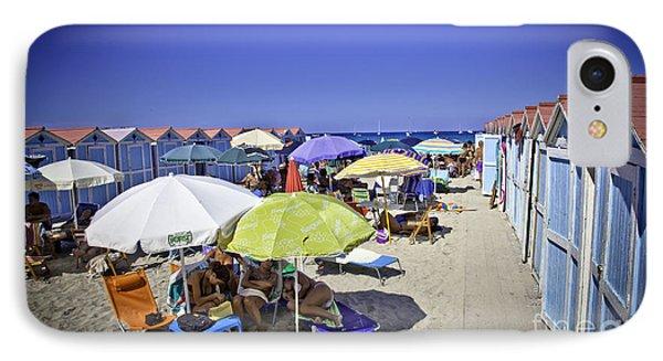 At Mondello Beach - Sicily Phone Case by Madeline Ellis