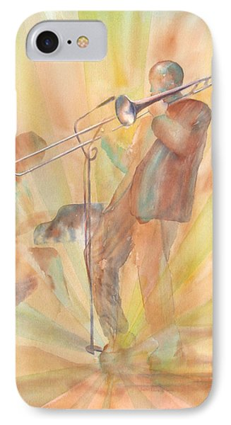 At One With The Music IPhone Case by Debbie Lewis