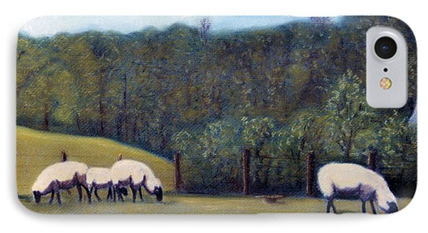 IPhone Case featuring the pastel At Pasture by Jan Amiss