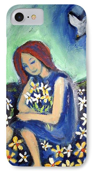 IPhone 7 Case featuring the painting At Peace by Winsome Gunning